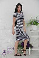 Платье тельняшка удлиненное 039