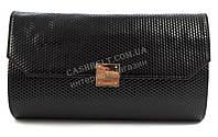 Небольшая стильная женская лакированная овальная сумочка клатч B. Elit art. 05-15 черный