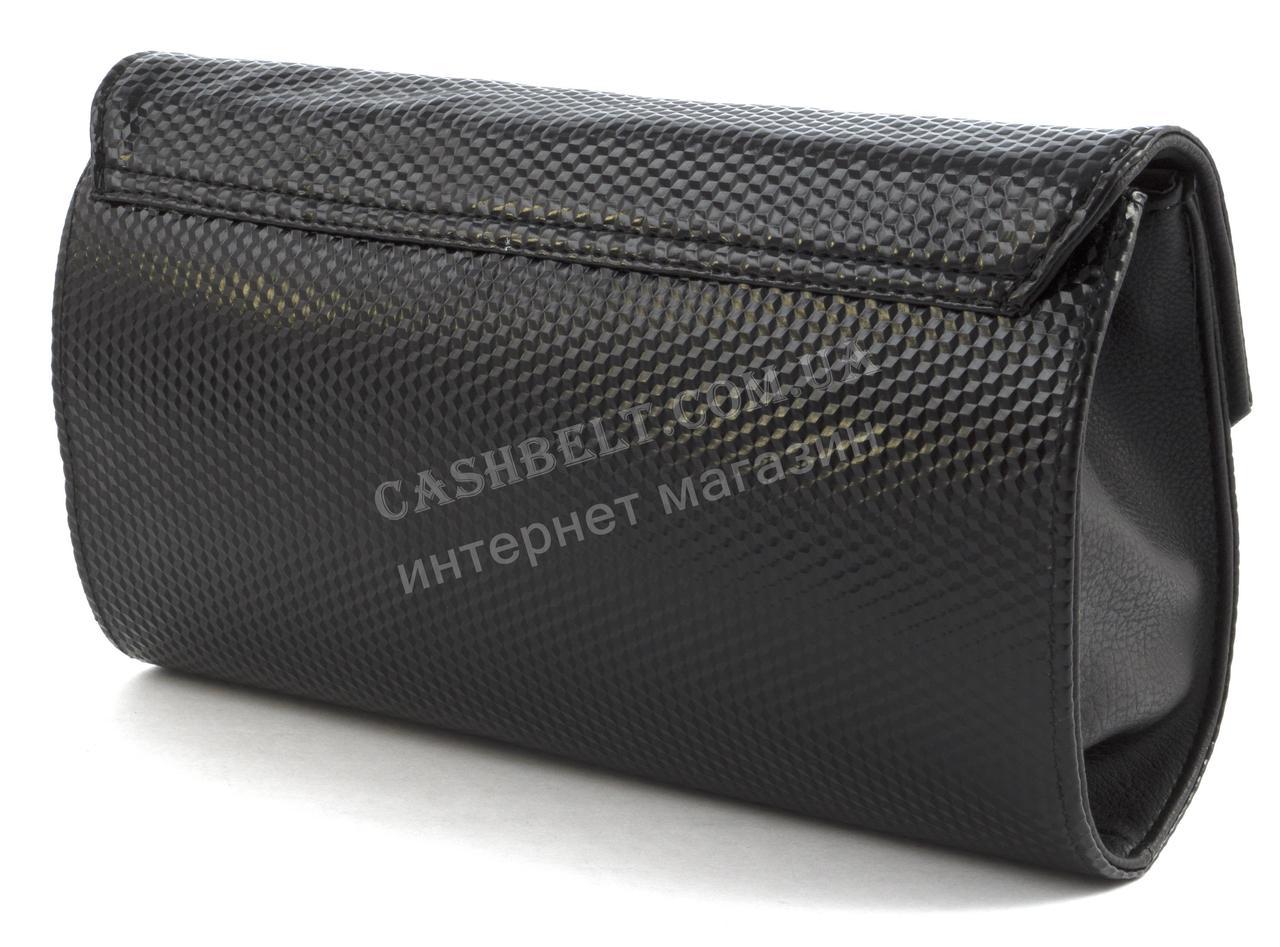 2f4abe77a613 05-15 черный Небольшая стильная женская лакированная овальная сумочка клатч  B. Elit art.