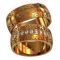 Обручальные кольца из золота (пара) арт. 801150