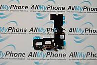 Шлейф для мобильного телефона Apple iPhone 7 коннектора зарядки / коннектора наушников с компонентами черный