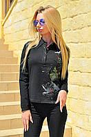 """Стильная женская рубашка """"Casual"""" с длинными рукавами"""