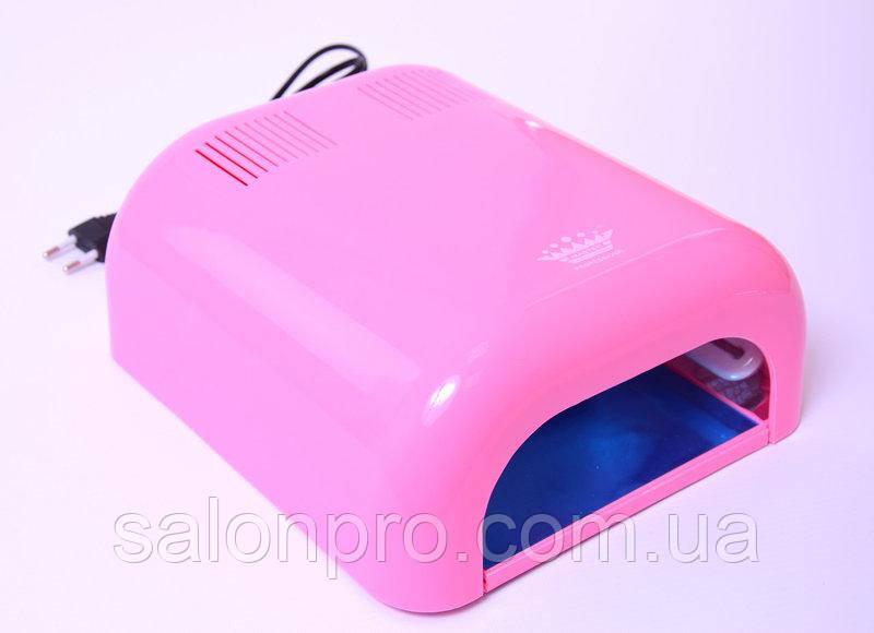 УФ лампа для сушки геля, гель-лака Master Professional MPL-230 на 36 Вт, нежно-розовая