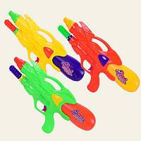 Водный пистолет 6618 с насосом, 3 цвета, 34см, в пакете 21*42см