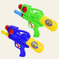 Водный пистолет 3314 с насосом, 2 цвета, 29см, в пакете 20*36см