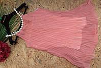 Платье туника Роскошь жемчуга 13444 пудра 42-46