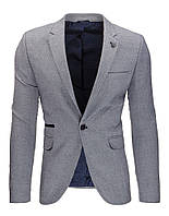 Мужской пиджак кажуэл серый антрацитовый   L