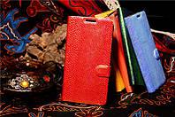 Чехол книжка Asus Zenfone 4 / 4 дюйма под кожу змеи Цвет красно-зеленый