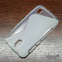 Чехол накладка S-line для Huawei Y625 (полу-прозрачный)