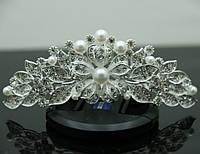 Свадебные украшения- диадемы для невест. Диадема на гребешке для волос 159
