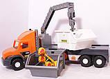 Super Tech Truck Грузовик со строительным контейнером 36760 Wader, фото 4