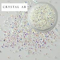 Хрустальная крошка Crystal AB - ss 2 - 100 шт.