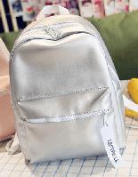 Женский городской серебряный рюкзак (большой)