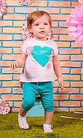 Костюм для малышки: футболка и штаны
