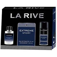 Мужской подарочный набор LA RIVE EXTREME STORY (туалетная вода 75 мл +дезодорант-спрей 150 мл)
