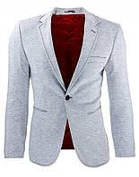 Мужской элегантный пиджак абсолютный бестселлер сезона серый  S