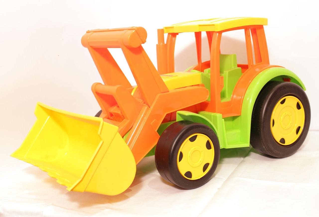 Большой игрушечный трактор Гигант с ковшом (без картона) (66005)