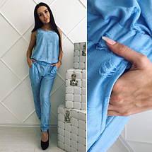 """Легкий женский брючный комбинезон """"Рванка"""" с карманами (2 цвета), фото 2"""