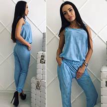 """Легкий женский брючный комбинезон """"Рванка"""" с карманами (2 цвета), фото 3"""