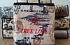 Микрофибровая простынь, покрывало TRUE LOVE евро Города, фото 7