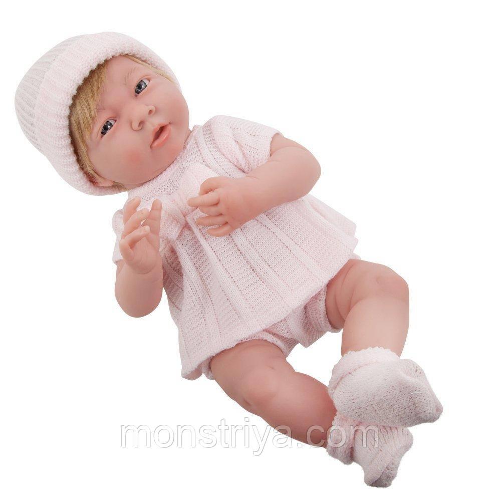 Младенец девочка La Newborn,пупс виниловый 38 см.