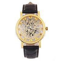 Наручные часы скелетоны, Золотой, Унисекс, фото 1
