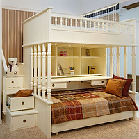 """Двухъярусная кровать с лестницей-комодом """"Кембридж"""""""