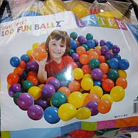 Детские шарики для сухого бассейна фирмы интекс