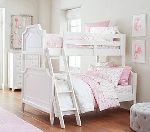 Двоярусне ліжко «Ave» з широким спальним місцем