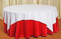 Скатерть круглая с напероном (красная)