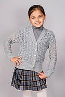 Детская вязанная кофта для девочки