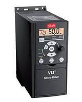 Частотный преобразователь Danfoss 0.37кВт 3-ф/380 ( 132F0017 )+панель управления