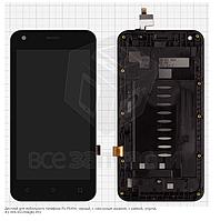 Дисплей для мобильного телефона Fly FS454, черный, с сенсорным экраном, с рамкой, original, 2.004.SS330AQA1-F