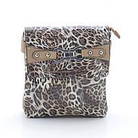 Женская сумочка-клатч 6804 beige (лео) лак
