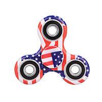 Спиннер керамический американский флаг Антистресс Hand Spinner