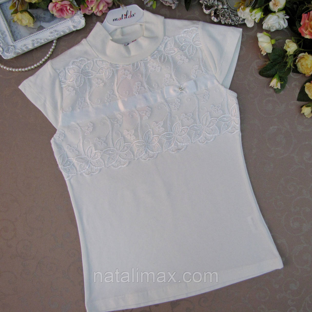 9c46fb7e571 Блузка школьная для девочек 8-14 лет.