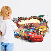 """Интерьерная наклейка на стену в детскую """"Тачки. Молния Маквин"""""""