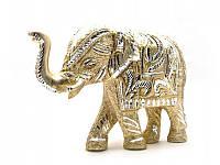 Слон резной алюминий (24х16,5х7 см) ( 25891)