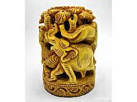"""Скульптура деревянная резная """"Слон""""(10х13 см) ( 18212)"""