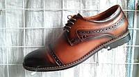 Туфли мужские броги Cevivo с натуральной кожи стильные