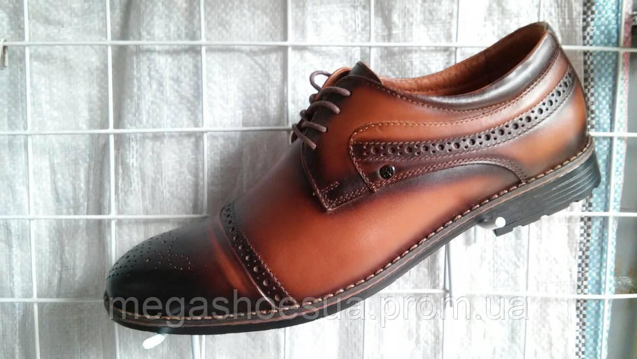 21c89eb7aa4e Туфли мужские броги Cevivo с натуральной кожи стильные - Интернет-магазин  украинской обуви MegaShoes в