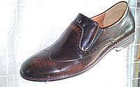 Туфли мужские броги оксфорды L-Style с натуральной кожи