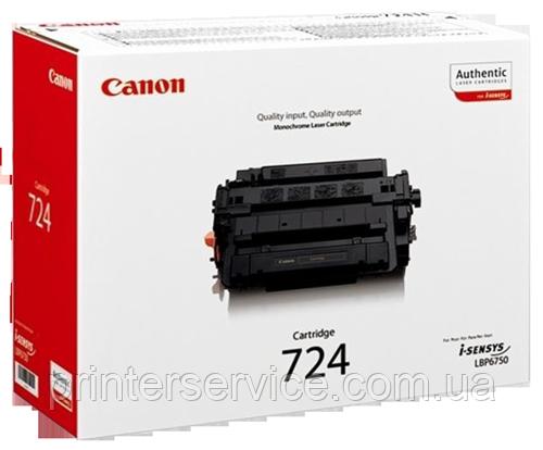Лазерный картридж  Canon 724 для принтеров Canon LBP-6750dn black