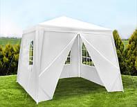 Садовый павильон шатер 3х3 с 4 стенками+окна