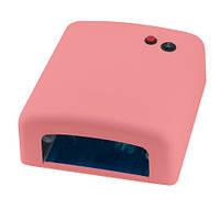 Уф лампа 818 с таймером 120сек, 36 Вт (розовая)