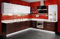 Кухни  угловые большие с шпона, фото 1