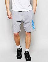 Серые спортивные шорты адидас