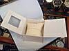 Подарочная коробочка для наручных часов белая с подушкой картонная артикул 114942