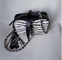 Женская кожаная сумочка STELLA с мехом пони