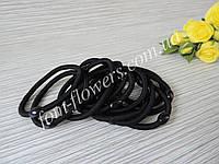 Резинка для волос. Цвет черный. 10 шт.
